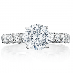 Classic Scalloped Engagement Ring